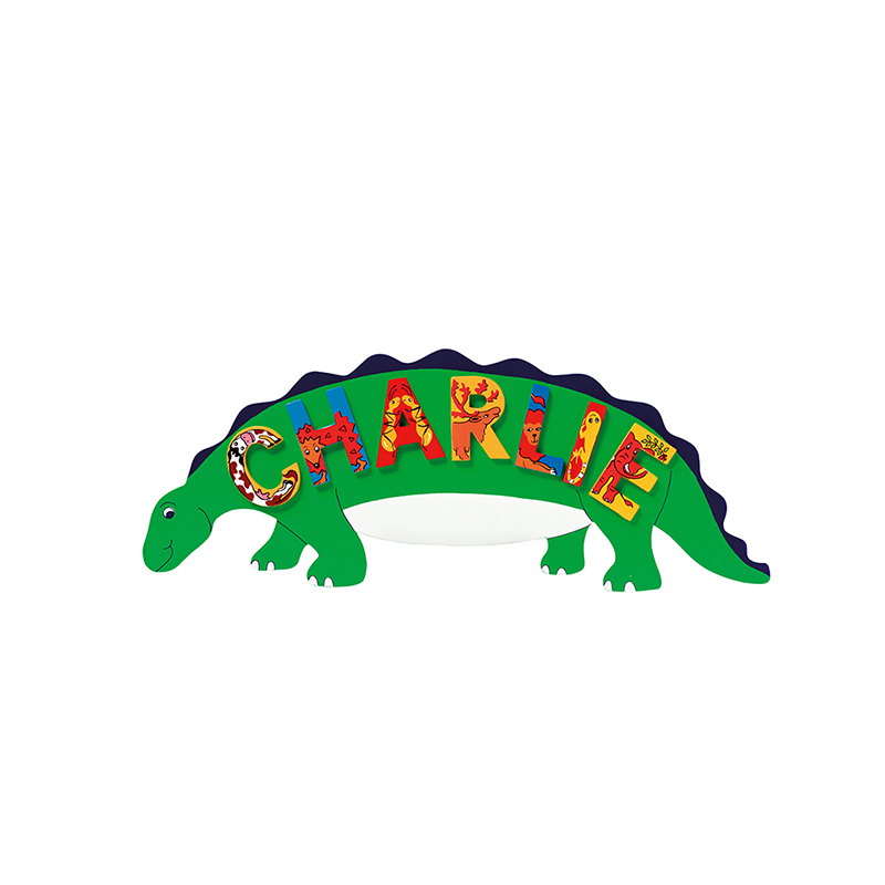 Name Plaque - Green Dinosaur