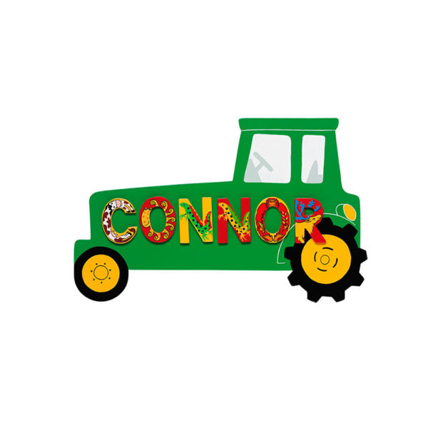Name Plaque - Green Tractor