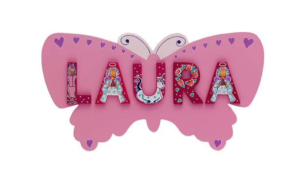 Name Plaque - Pink Butterfly