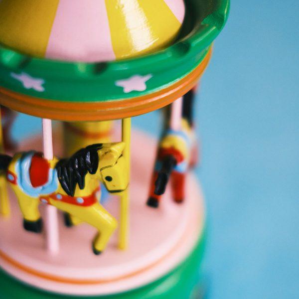 Musical Carousel - Large Green close-up