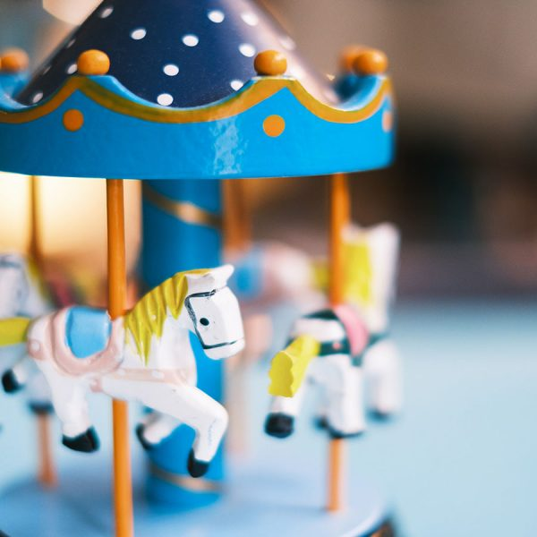 Musical Carousel - Small Blue Close-up