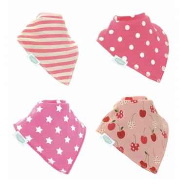 Ziggle Bibs Pink Shapes Set