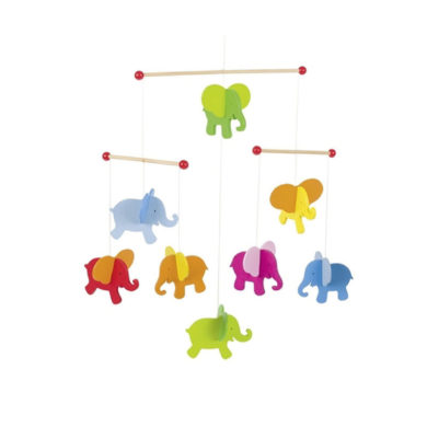 Colourful Elephant Mobile