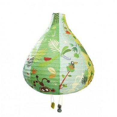 Hot Air Balloon Paper Lampshade - Blue & Green