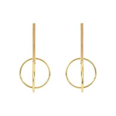 Rachel Double Hoop Gold Earrings