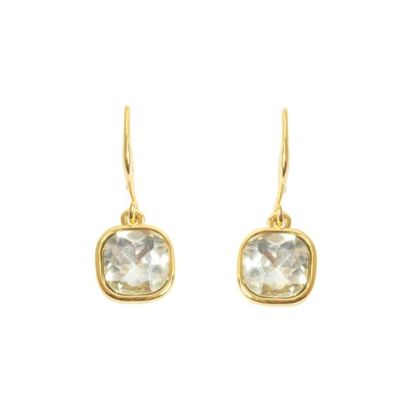Square Cut Drop Earring - Gold, Love Luxe