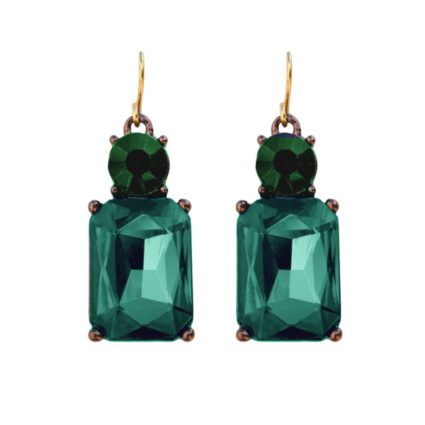 Angie Earrings Emerald Green