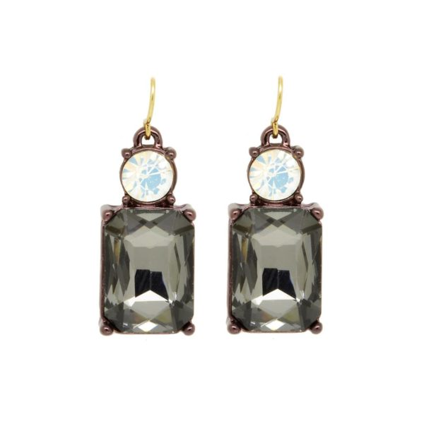 Angie Earrings Slate with white opal