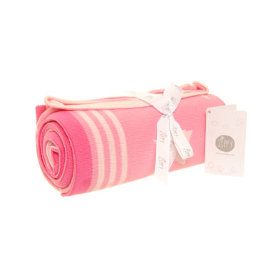 Baby Blanket - Pink & White Stars