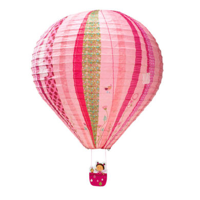 Hot Air Balloon Paper Lampshade - Pink