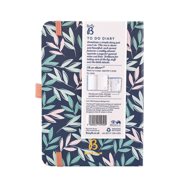 Busy B A6 Diary 2020 - Breezy Blossoms Back