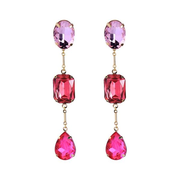 Faye Triple Pink Earring