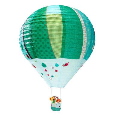Hot Air Balloon Paper Lampshade - Blue/Green