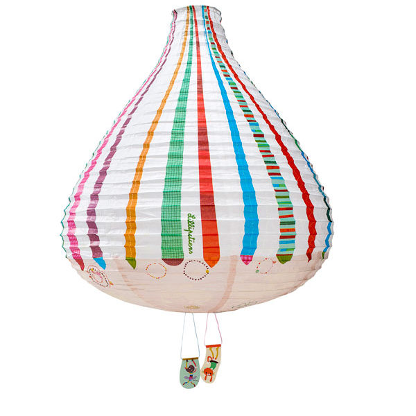 Hot Air Balloon Paper Lampshade - Stripes!