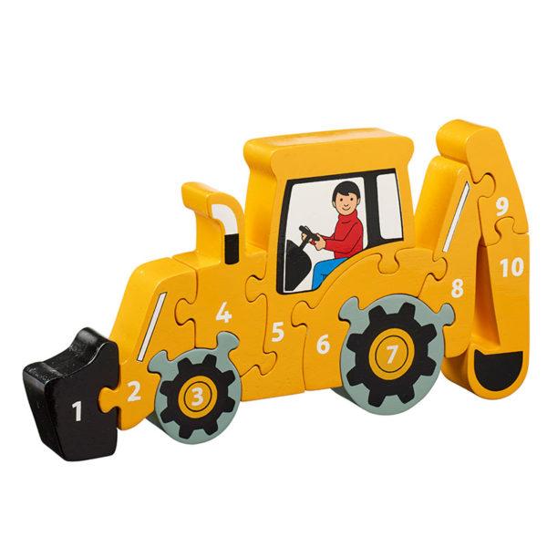 Yellow Digger Jigsaw 1-10