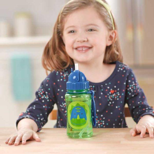Skip Hop Straw Bottle - Dinosaur