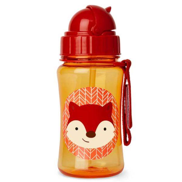Skip Hop Straw Bottle - Fox