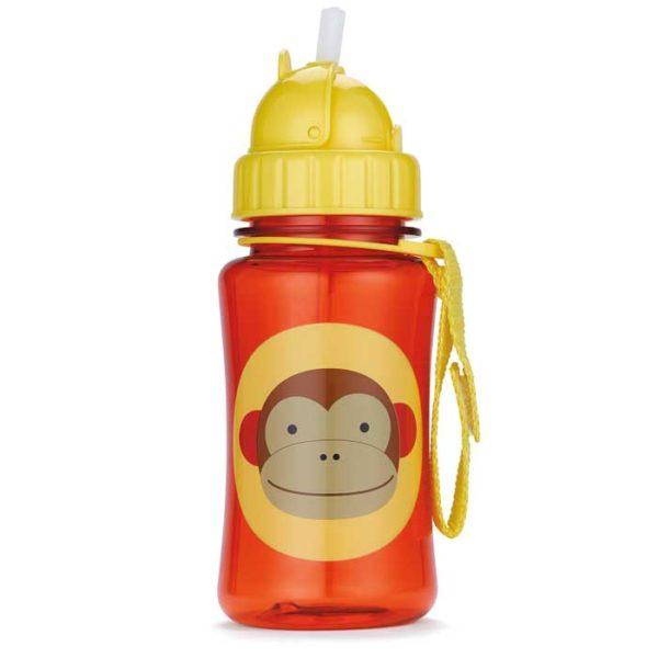 Skip Hop Straw Bottle - Monkey