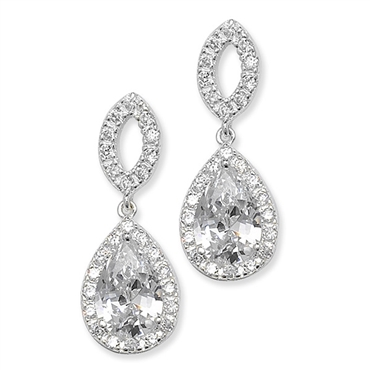 Alana Silver Bridal Earrings