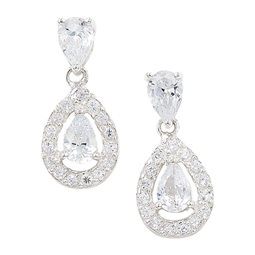 Anna Silver Wedding Earrings