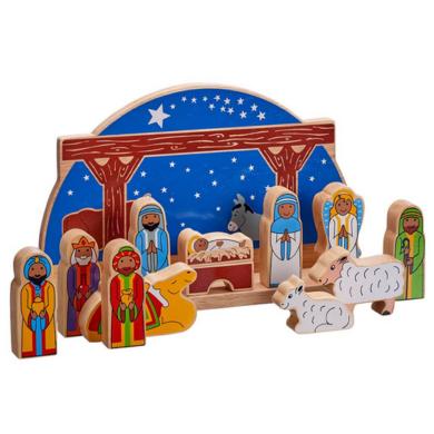 Starry Night Wooden Nativity Set - Large