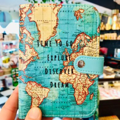 Passport Cover, Vintage Map