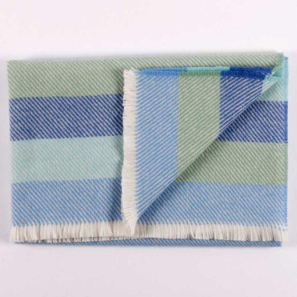 Cushendale Blue Stripe Baby Blanket