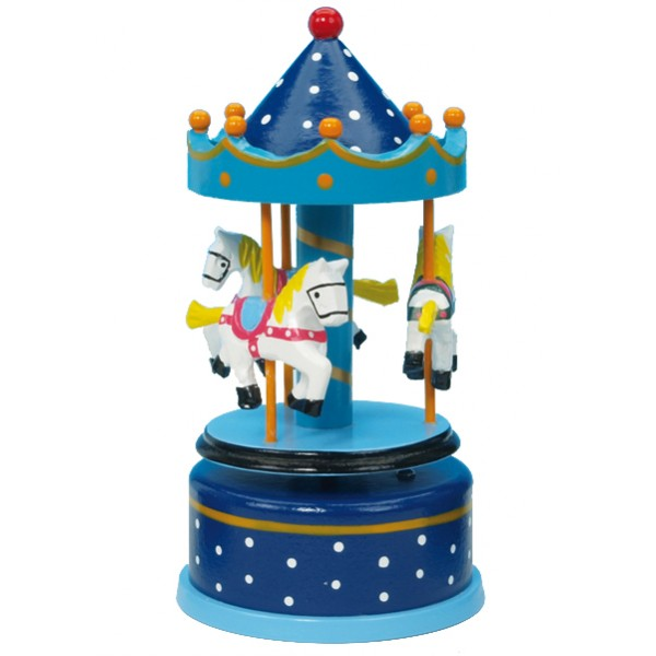 Musical Carousel - Small Blue