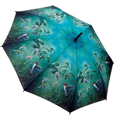Green Hummingbird Umbrella