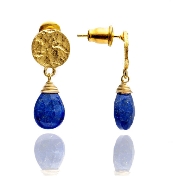 Kate Earrings Lapis Blue