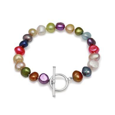 Freshwater Pearl Bracelet Multi Colour