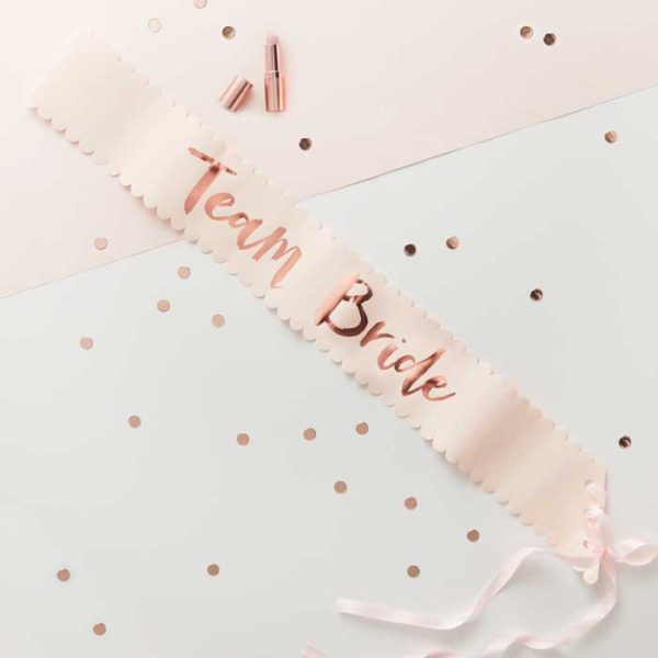 Team Bride Sash Kit x 6