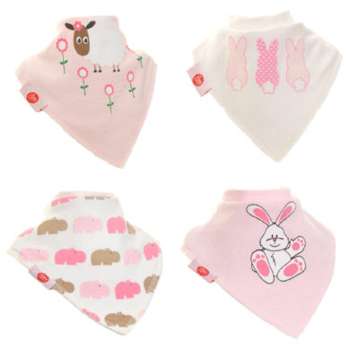 Zippy Bandana Bibs - Cute Pink
