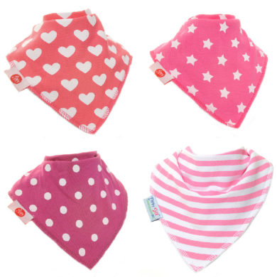 Zippy Bandana Bibs - Pink Shapes Pack