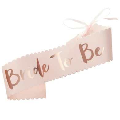 Bride to be Sash - Rose & Pink
