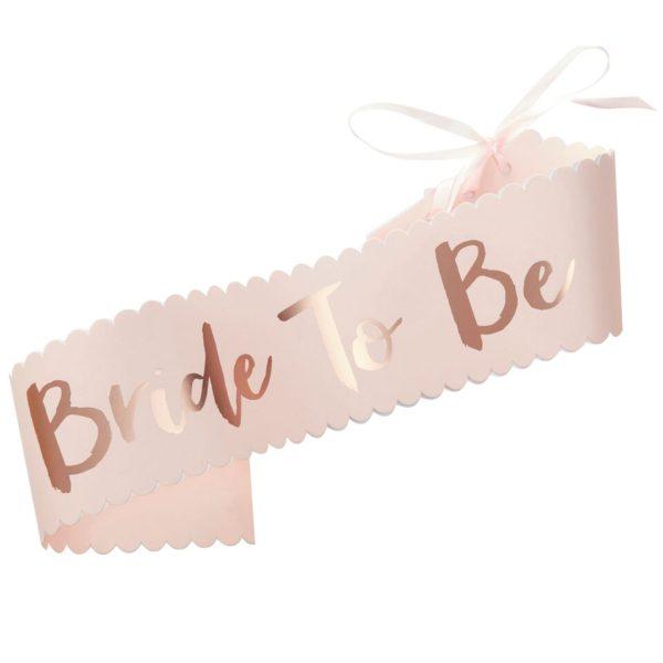 Bride to be Sash - Rose & Pink