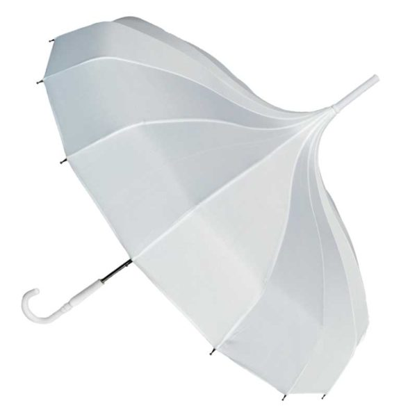 White Pagoda Wedding Umbrella