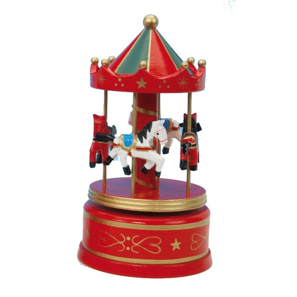 Musical Carousel - Large Red
