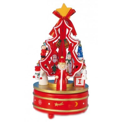 Santa and Snowman Musical Carousel
