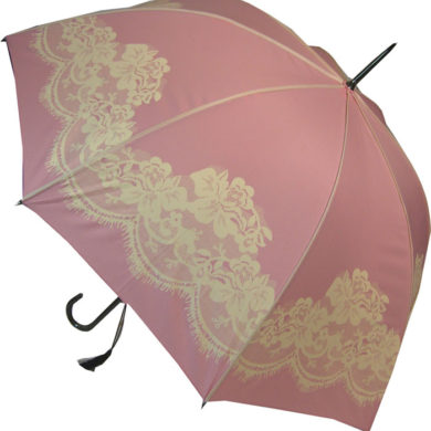 Powder Pink Umbrella - Lace Print