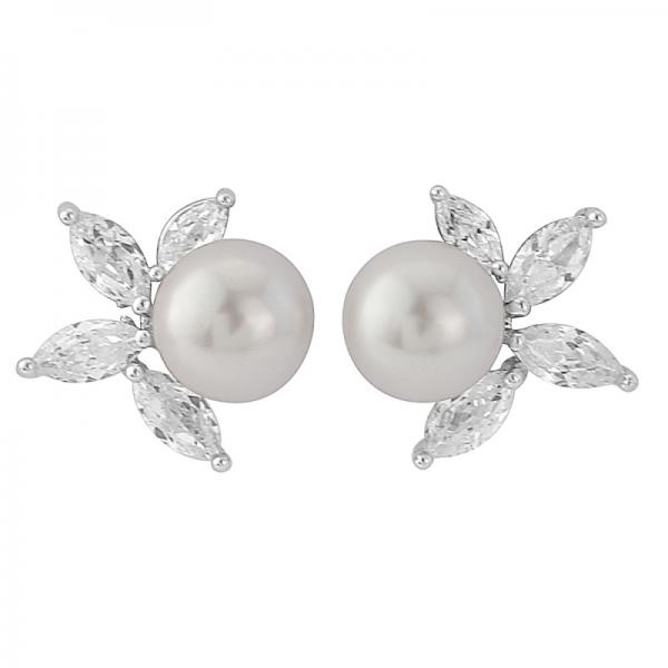 Emer Earrings Silver Detail