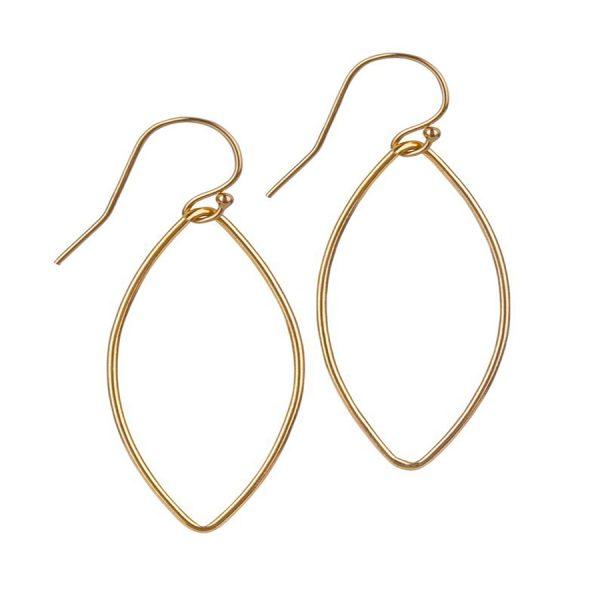 Momuse Gold Filled Oval Earrings - Medium