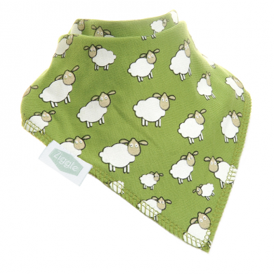 Ziggle Bibs - Green Sheep Pattern