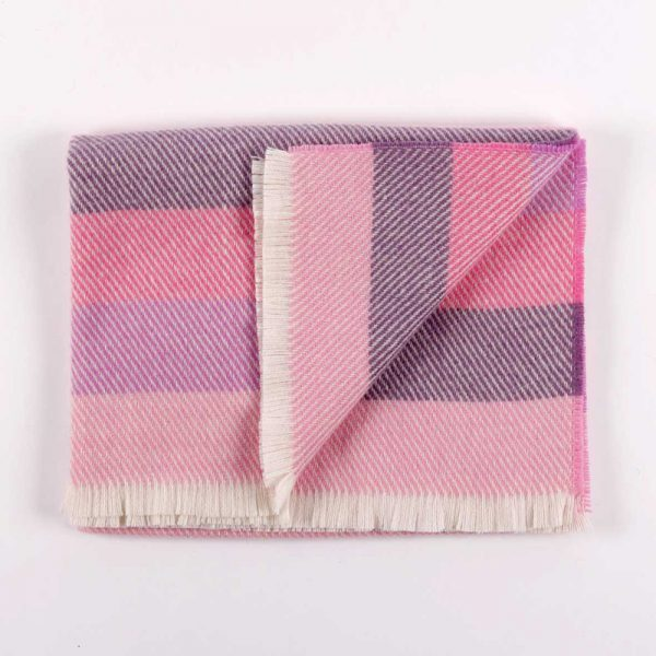 Cushendale Pink Stripe Baby Blanket