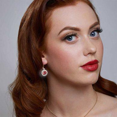 Evie Earrings - Red