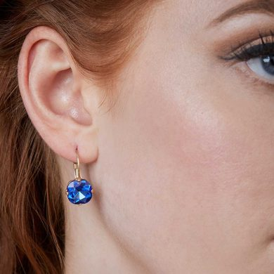 Julie Opal Earrings - Blue