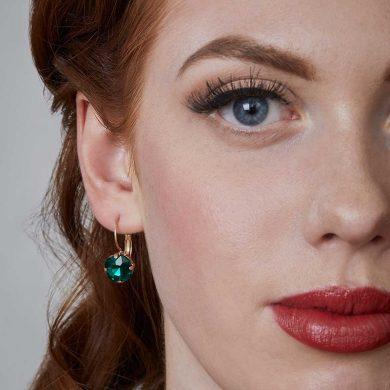 Julie Opal Earrings - Green