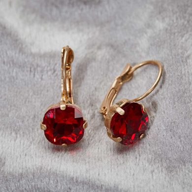 Julie Opal Earrings - Red