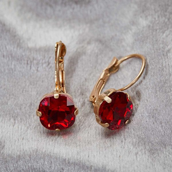 Julie Opal Earrings - Red