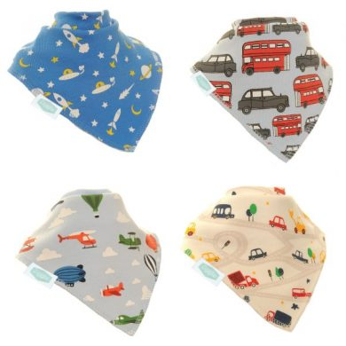 Zippy Bandana Bibs - Car Pattern Pack